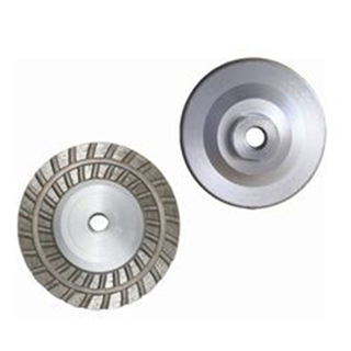 Double Row Turbo Grinding Cup Wheel with Aluminum Body