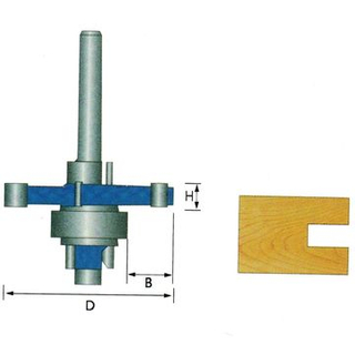 3 Wing Slotting Cutter (Bearing 22mm) for Cutting Wood
